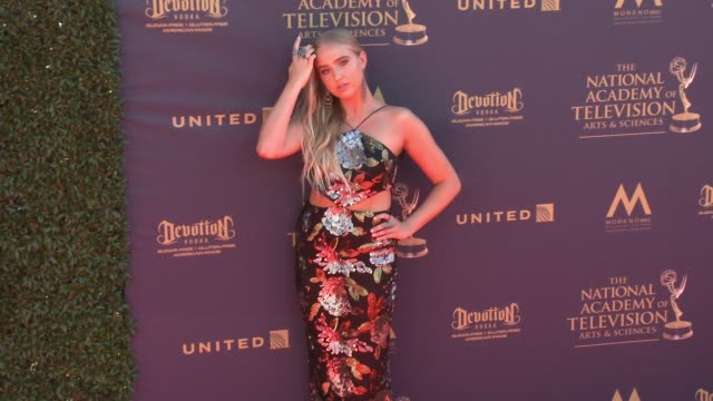 Veronica Dunne at the 44th Annual Daytime Emmy Awards at Pasadena Civic Auditorium on April 30 2017 in Pasadena California