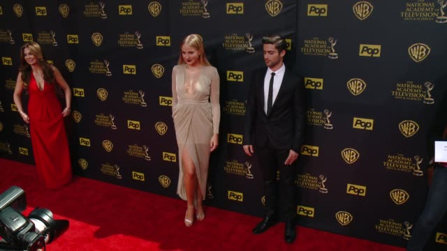 Veronica Dunne Max Ehrich at 42nd Annual Daytime EMMY Awards at Warner Bros Studios on April 26 2015 in Burbank California