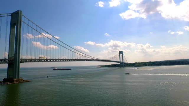 verrazano bridge 1 - staten island stock videos and b-roll footage