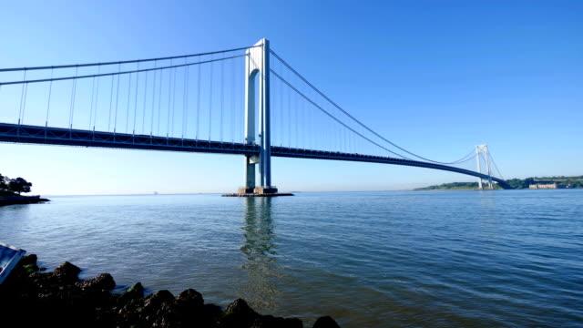 verrazano narrows bridge - staten island stock videos and b-roll footage