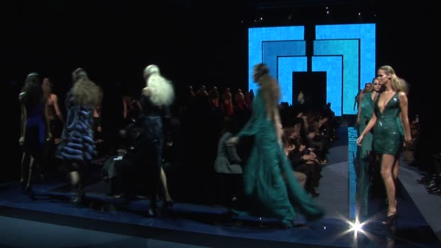 versace: milan fashion week a/w /2009 - versace designer label stock videos & royalty-free footage