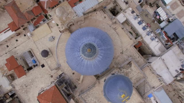 Vertical Aerial view of Church of the Holy Sepulchre