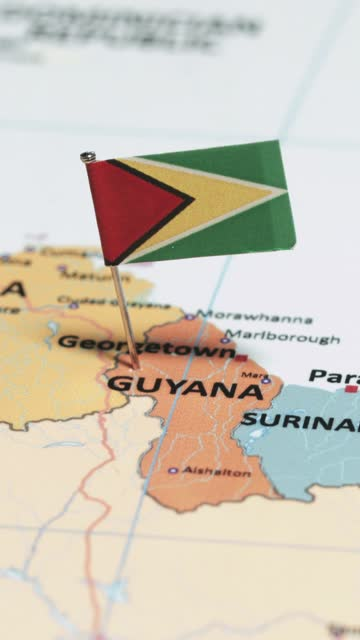 vertical video of french guyana with national flag - french overseas territory stock videos & royalty-free footage