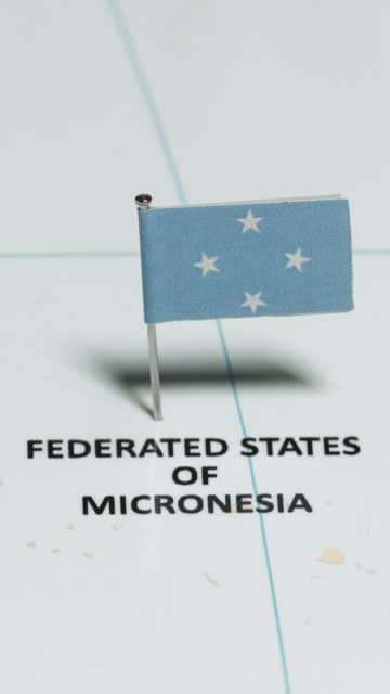 vertical video of micronesia with national flag - south pacific ocean stock videos & royalty-free footage