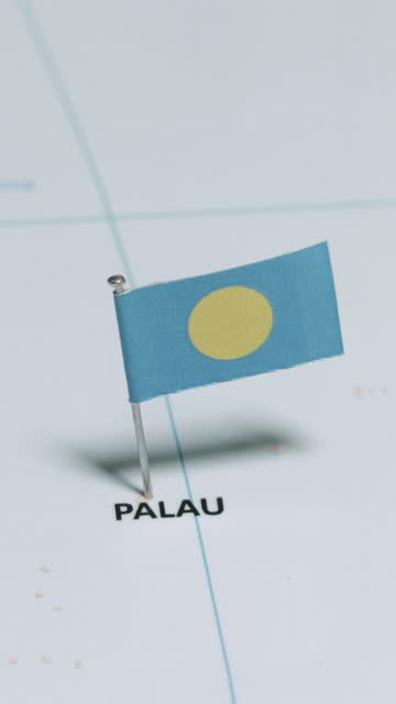 vertical video of palau with national flag - south pacific ocean stock videos & royalty-free footage
