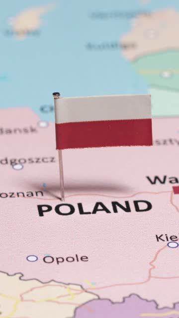 vertical video of poland with national flag - national flag stock videos & royalty-free footage
