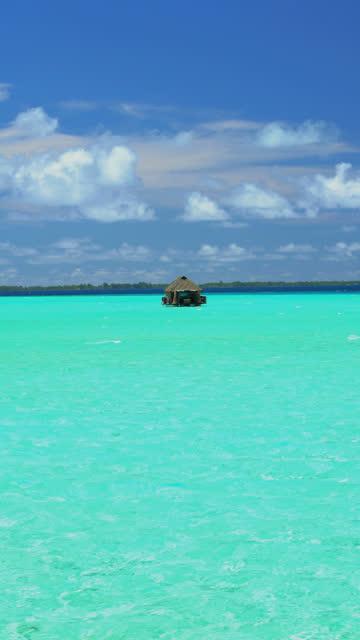 vertical view of luxury paradise island bora bora - polynesian ethnicity stock videos & royalty-free footage