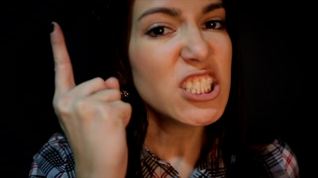 very angry young woman,close up - displeased stock videos and b-roll footage