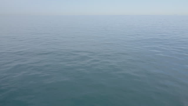 A very calm sea.