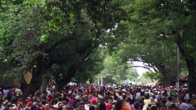 very crowded park - indianischer abstammung stock-videos und b-roll-filmmaterial