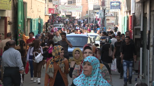very crowded street, bethlehem, palestine - palestinian territories stock videos and b-roll footage