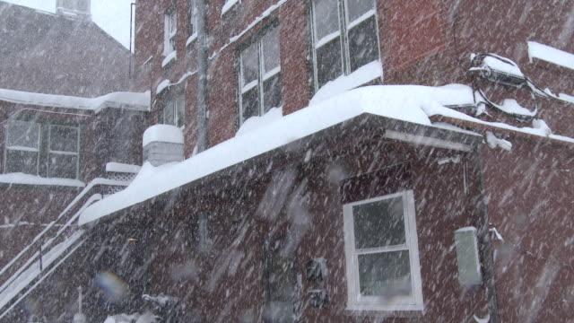 very heavy snow falling, vehicles buried - scott mcpartland stock videos & royalty-free footage