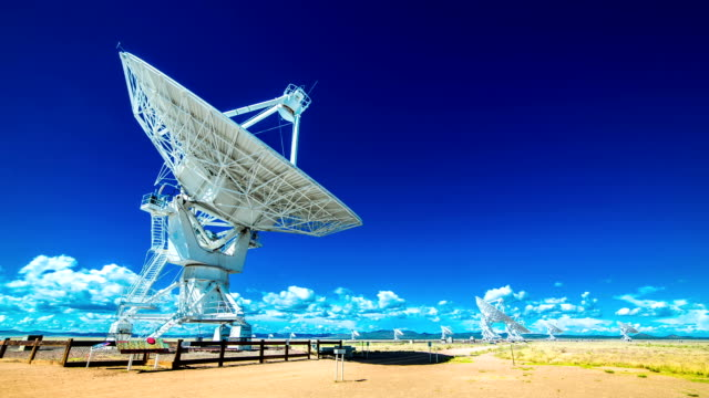 vla very large array radio telescope time lapse - radio telescope stock videos and b-roll footage