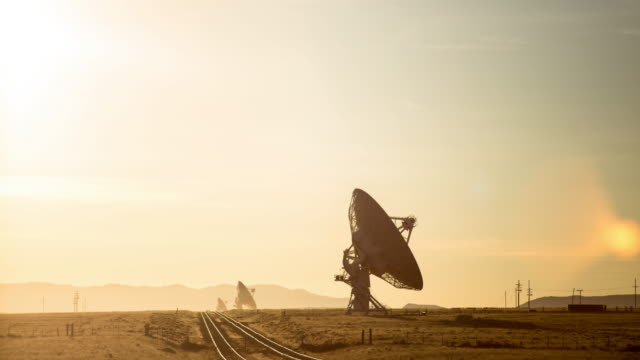 very large array telescopes - time lapse - radio telescope stock videos & royalty-free footage