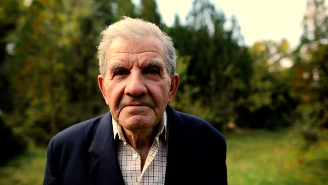 very old man portrait with emotions. looking at the camera.aged, elderly senior. - 70 79 years stock videos & royalty-free footage