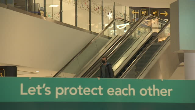 very quiet gatwick airport during coronavirus pandemic - space stock videos & royalty-free footage