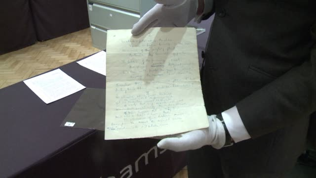 a very rare manuscript of a churchill poem will be auctioned wednesday in london clean london churchills handwritten poem on april 09 2013 in london... - manuscript stock videos and b-roll footage