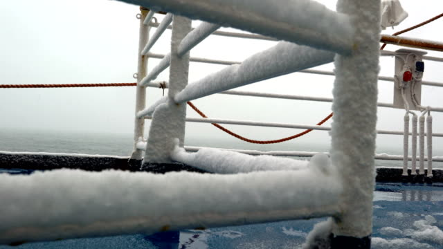 vessel covered with ice - frozen stock videos & royalty-free footage