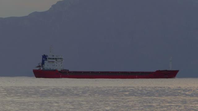 Vessel near Port d' Alcudia at morning mood, Majorca, Balearic Islands, Spain