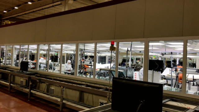 Vestel City employees work on a television production line in the Vestel City mega factory on May 14 2018 in Manisa Turkey The Vestel City mega...