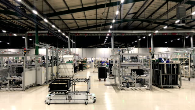 Vestel City self driving robots accomplish tasks at a Vestel City mega factory on May 14 2018 in Manisa Turkey The Vestel City mega factory started...