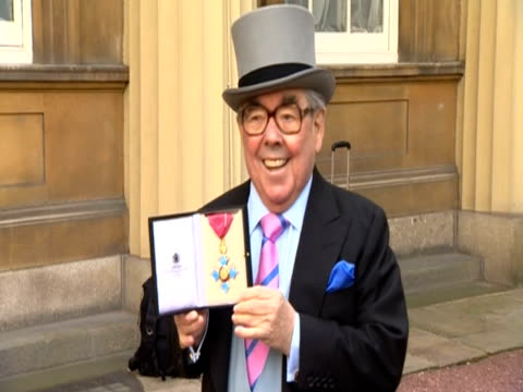 veteran comedian ronnie corbett receives the cbe - ronnie corbett stock videos and b-roll footage