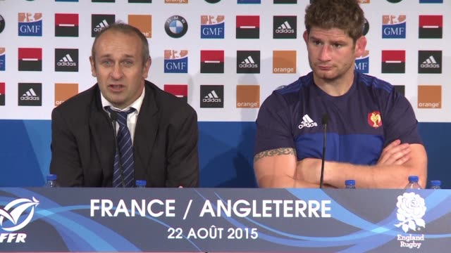 stockvideo's en b-roll-footage met veteran flyhalf frederic michalak gave his hopes of a world cup starting spot a major lift with a recordbreaking performance as france downed england... - recordbrekend
