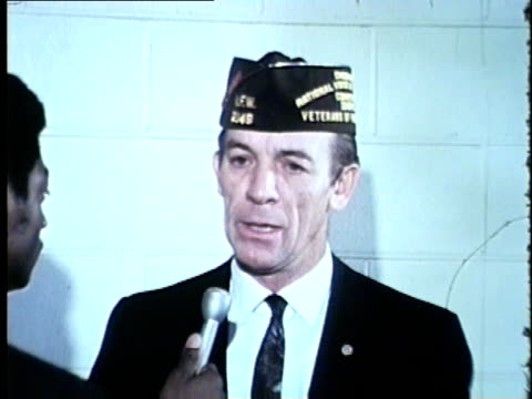 veteran talks about opposing vietnam war on veteran's day in chicago in 1969. - war veteran stock videos & royalty-free footage