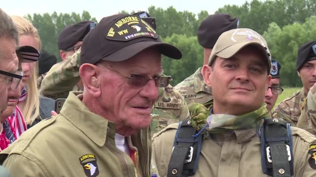 A US veteran who was parachuted into France during DDay in 1944 defies his age as he recreates his courageous feat of 75 years ago as part of...