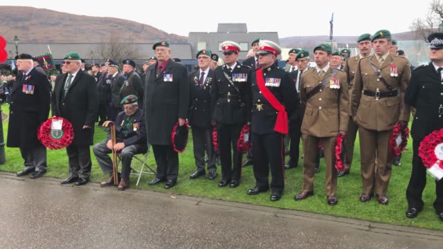 veterans and serving members of the armed forces gather to commemorate and pay respect to the sacrifice of service men and women who fought in the... - armistice stock videos and b-roll footage