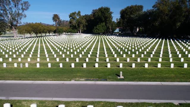 veterans cemetery 3 - cemetery stock videos & royalty-free footage