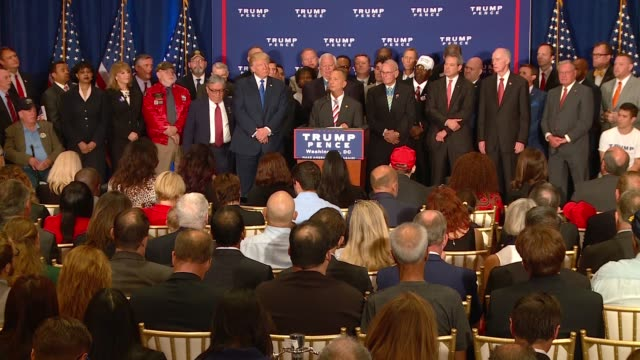 veterans continue to endorse donald trump as commander in chief during what was supposed to be a major press conference at the newly opened trump... - representing stock videos and b-roll footage