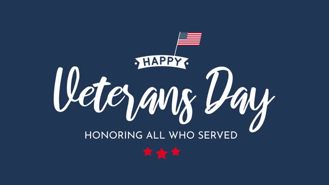 veterans day. honoring all who served. 4k animation - veterans day stock videos & royalty-free footage