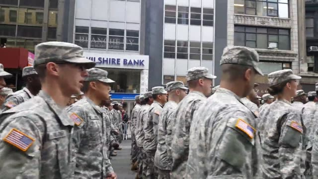 veterans day parade in new york city - armistice day stock videos and b-roll footage