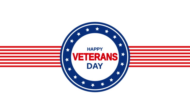 veterans day with stripes and stars, usa. 4k animation - veterans day stock videos & royalty-free footage
