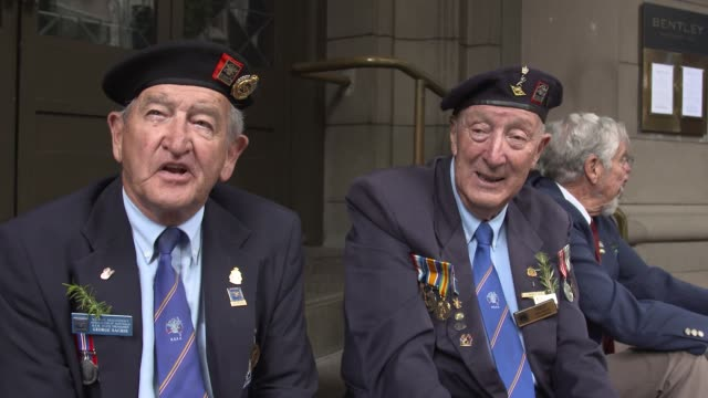 veterans describe their conscription and military service in korean war at the anzac day parade on april 25, 2017 in sydney, australia. australians... - anzac day stock videos & royalty-free footage