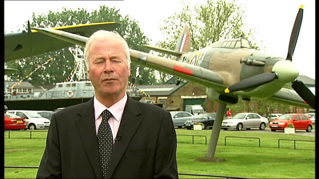 veterans fliers of 601 squadron reunite at raf hendon reporter to camera insignia on uniforms of members of royal auxiliary air force members of... - insignia stock videos and b-roll footage