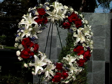 veteran's wreath 04 - stargazer lily stock videos & royalty-free footage