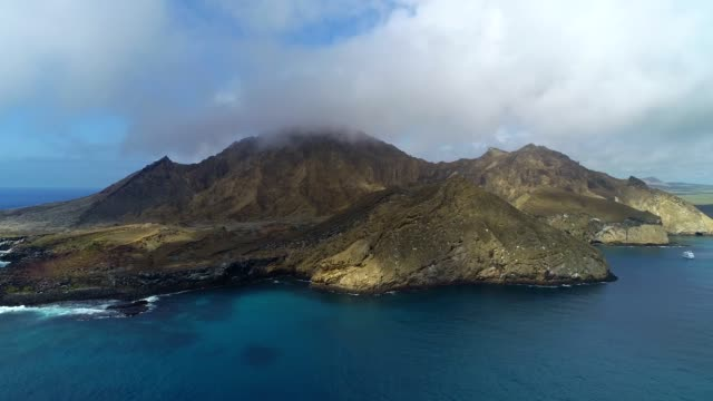 vew of seascape and cloudscape in galapagos islands - galapagos islands stock videos & royalty-free footage