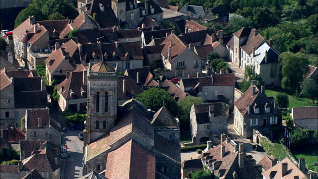 Vezelay Abbey  - Aerial View - Bourgogne, Yonne, Arrondissement d'Avallon, France