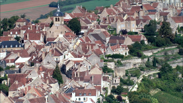 Vezelay  - Aerial View - Bourgogne, Yonne, Arrondissement d'Avallon, France