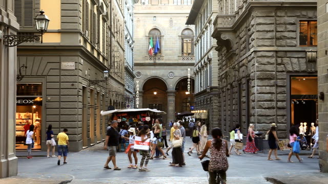 via calimala in florence - florence italy stock videos & royalty-free footage
