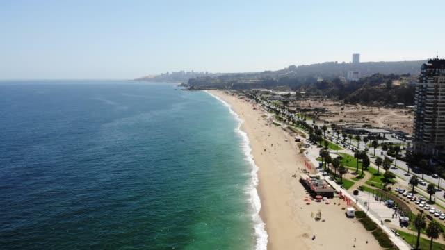 viña del mar beach - chile stock videos & royalty-free footage