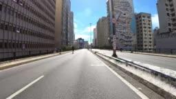 Via High President Joao Goulart, also know as Minhocao in Sao Paulo, hyper lapse