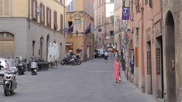 Via Pantaneto, Siena, Tuscany, Italy, Europe