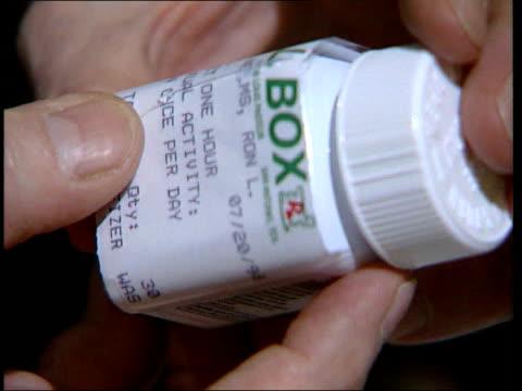 viagra prescriptions restricted lib cs prescription bottle held cs tablets in hand - anti impotence tablet stock videos & royalty-free footage