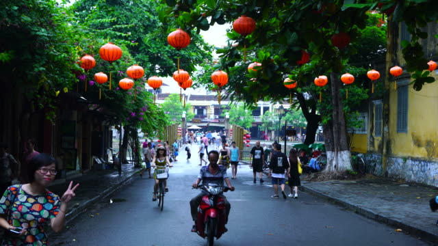 vibrant atmosphere in old town, hoi an,vietnam, asia - vietnam stock videos & royalty-free footage
