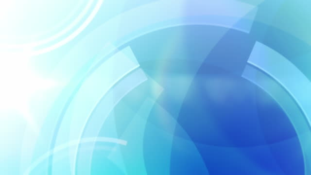 Vibrant Circles Background Loop - Ocean Blue (Full HD)