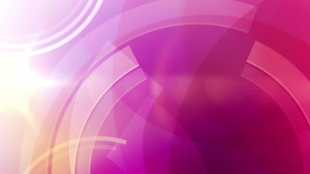 Vibrant Circles Background Loop - Tropical Pink (Full HD)