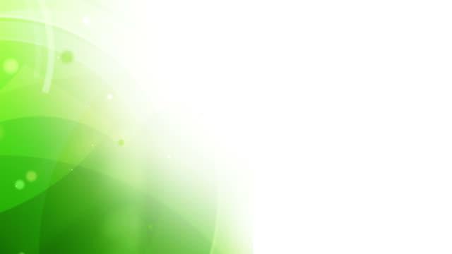 vídeos de stock, filmes e b-roll de vibrante círculos corner loop-sapo verde (full hd - full hd format